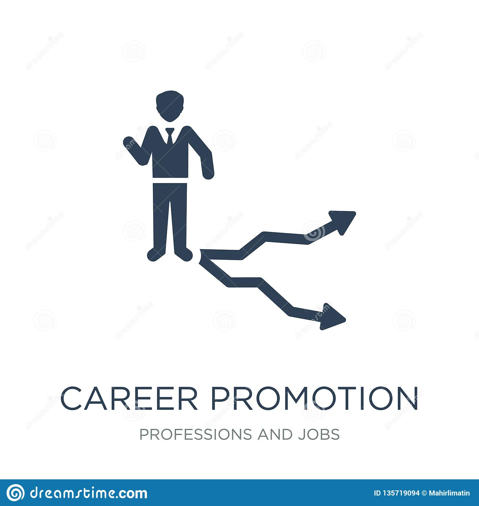 career promotion icon in trendy design style. career promotion icon isolated on white background. career promotion vector icon
