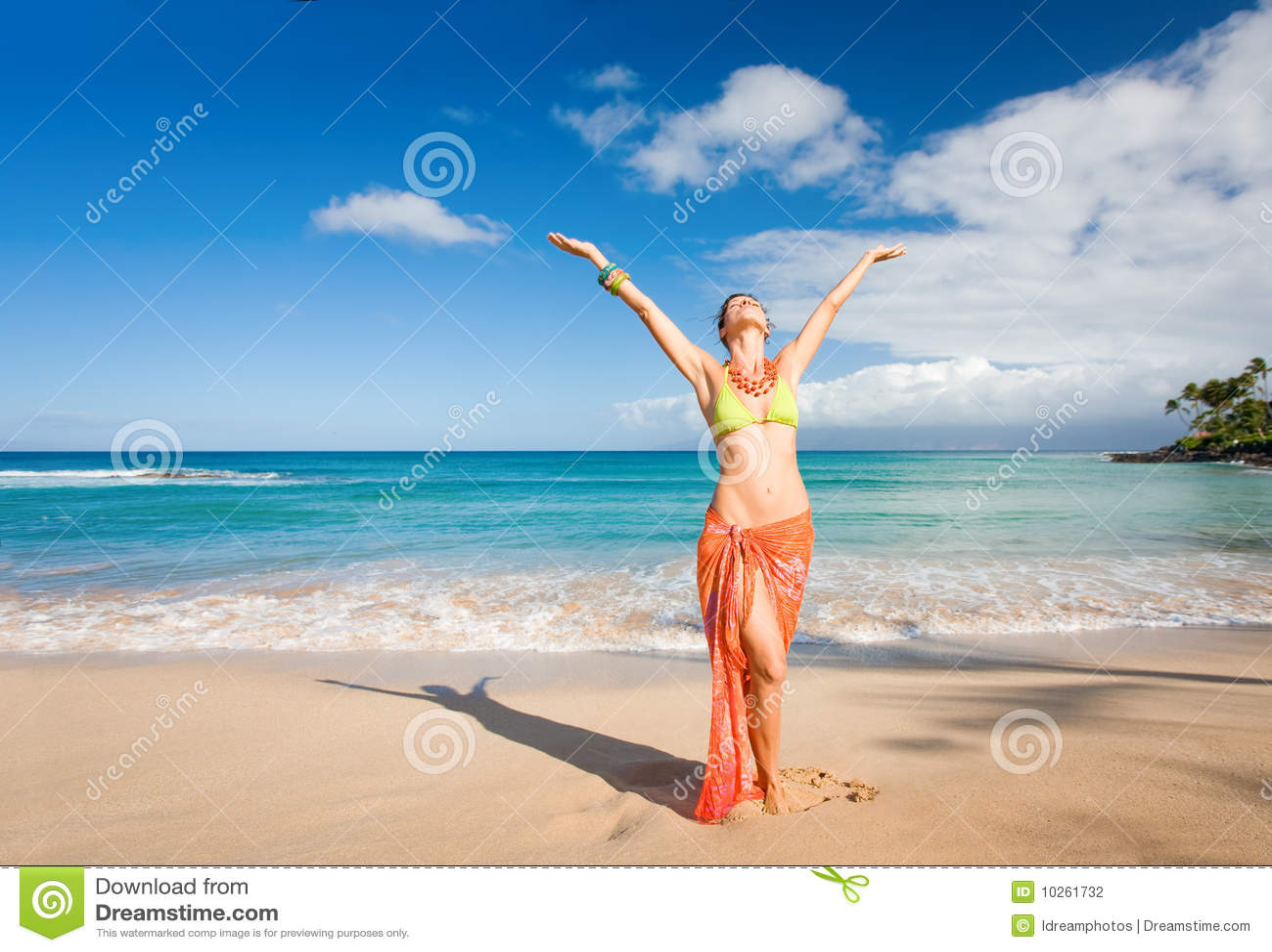 Carefree kvinna
