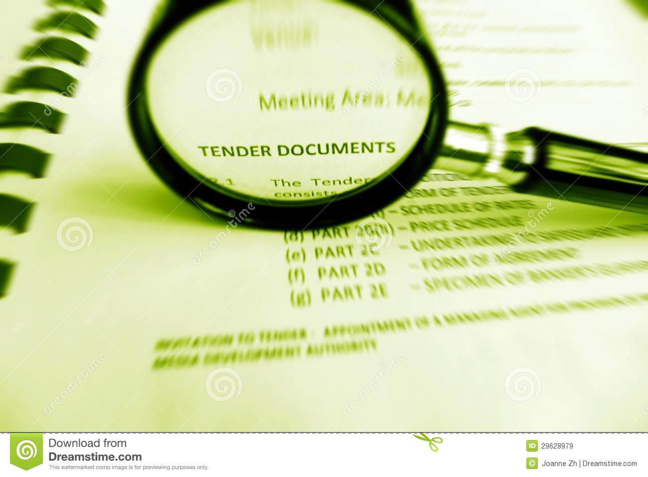 Carefully Studying Tender Documents Stock Image - Image of legal, conditions: 29628979