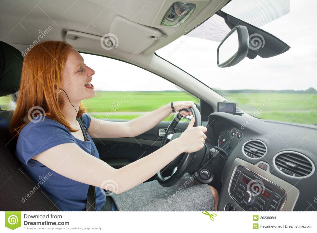 Careless Driver Listening To Music Stock Images - Image: 20238084