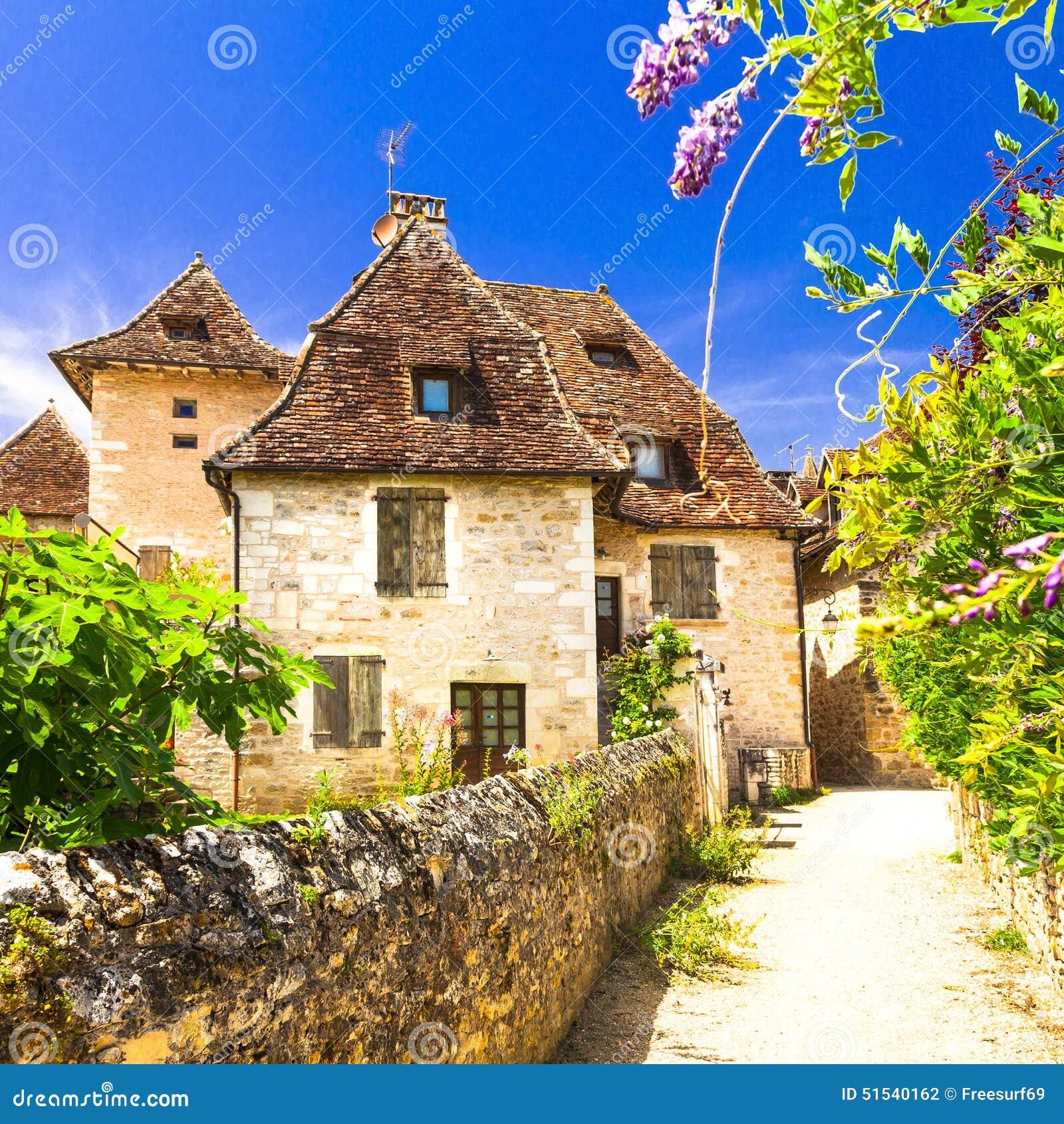 Aryankavu A Beautiful Village: Carennac Village. France Stock Photo