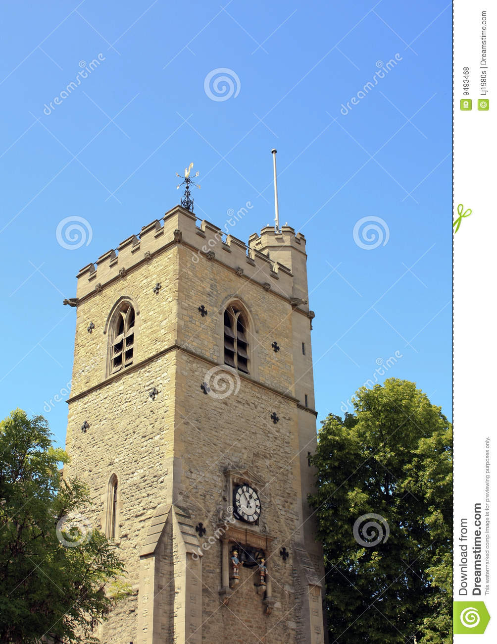 Carfax Tower, Oxford, Uk Stock Photo. Image Of Knowledge