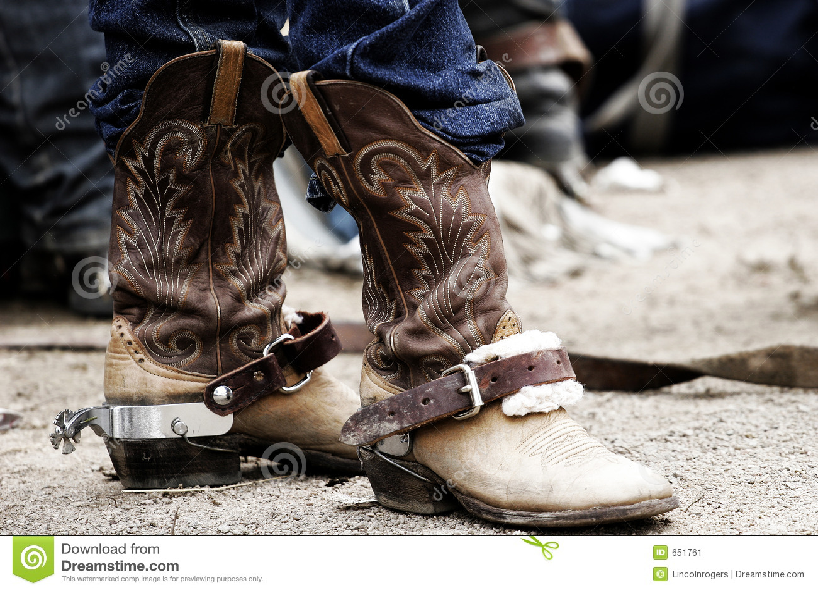 Cargadores del programa inicial y estímulos de vaquero del rodeo