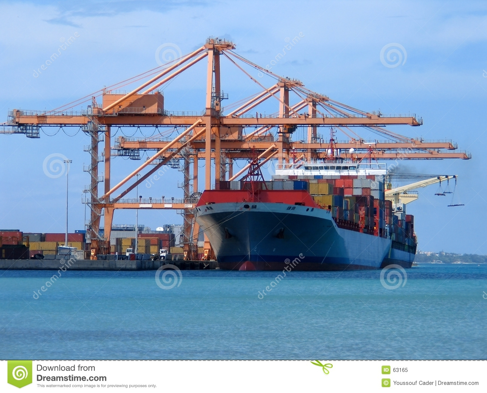 Download Cargo image stock. Image du conteneur, ciel, logistique - 63165
