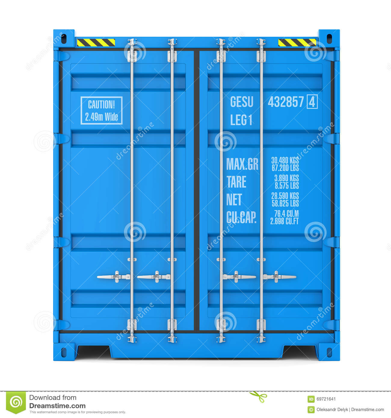 cargo container texture front view stock illustration