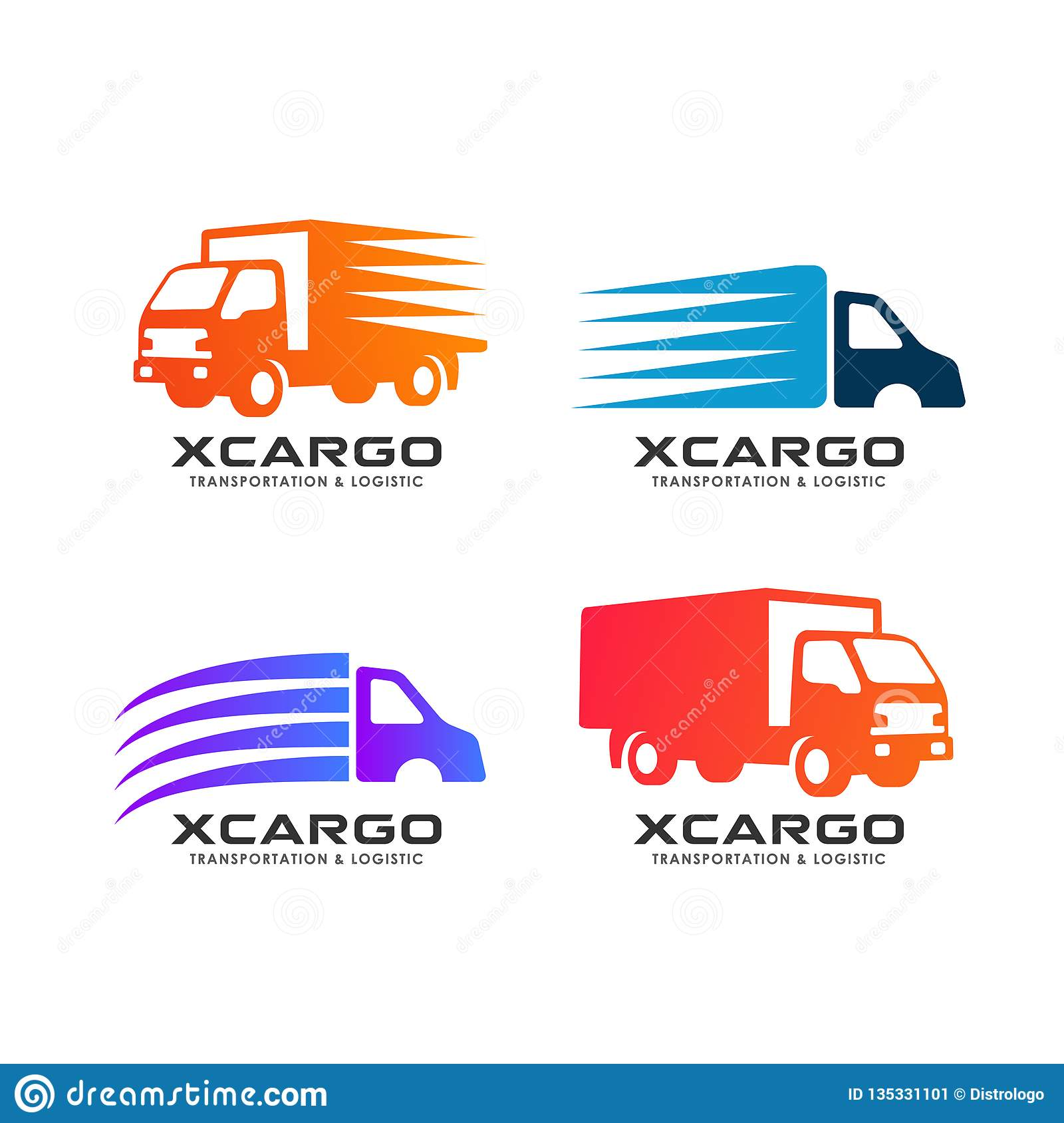 Cargo Delivery Services Logo Design. Delivery Truck Vector ...