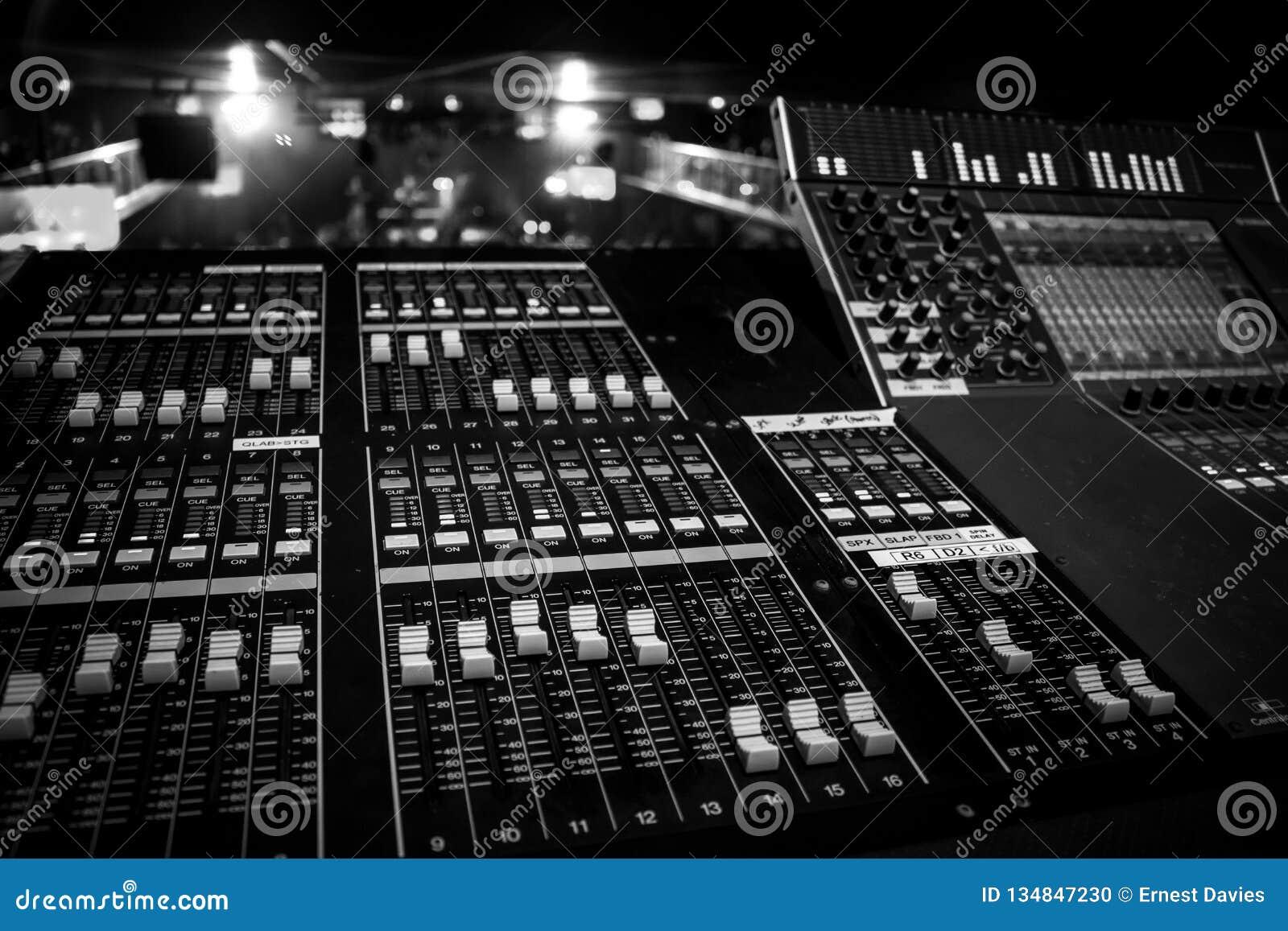 Cargo do console de Live Venue Digital Audio Mixing
