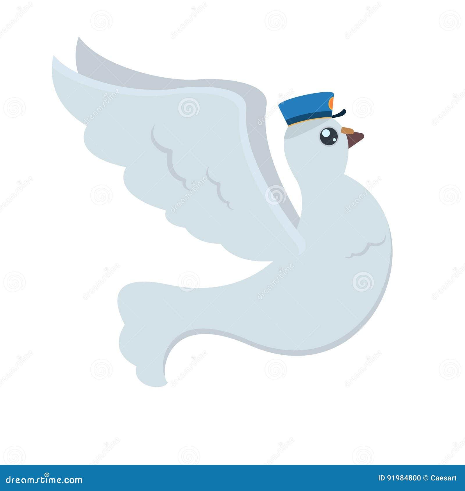 Cargo Do Pombo Dos Desenhos Animados Com O Chapeu Azul Do S Do