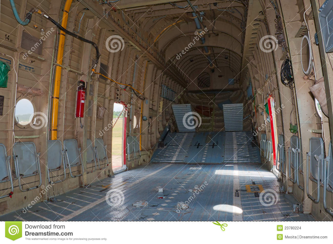 Cargo Hold Of Mi-26 Helicopter Stock Images - Image: 23780224