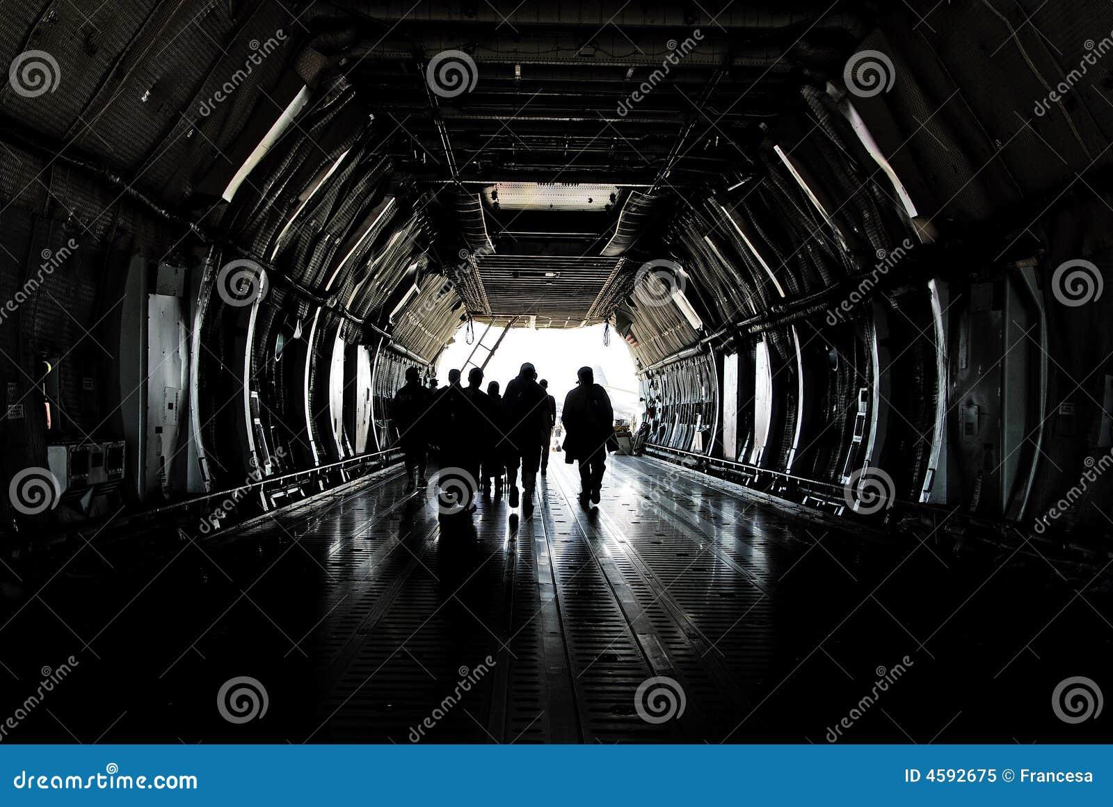 Cargo plane crew
