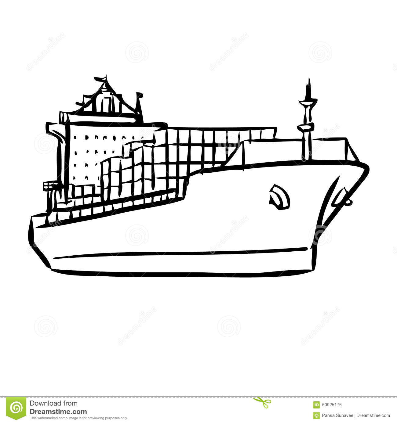 Cargo Ship Outline Drawing | www.pixshark.com - Images ...