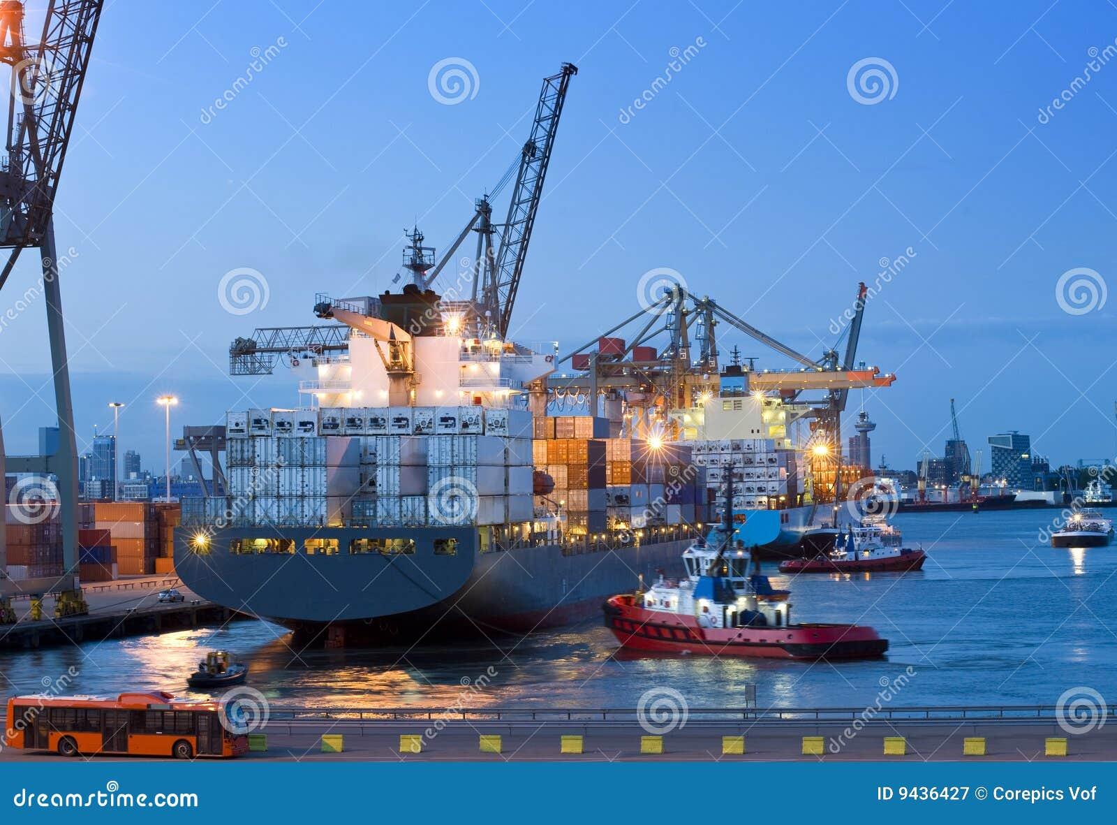 Cargo ship docking