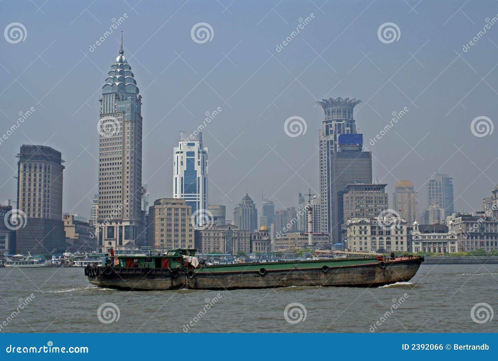 Cargo ship in Shanghai