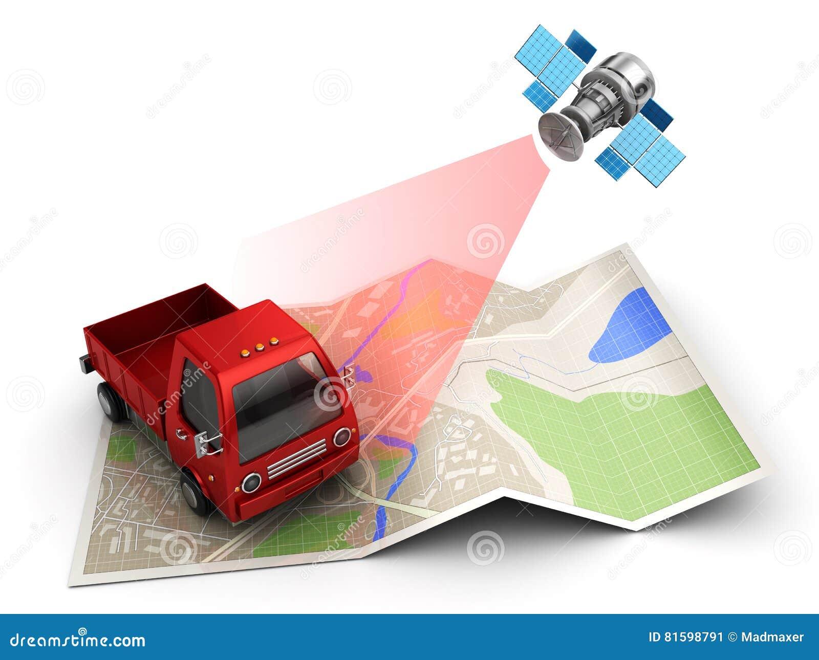 Cargo Tracking Stock Illustration - Image: 81598791