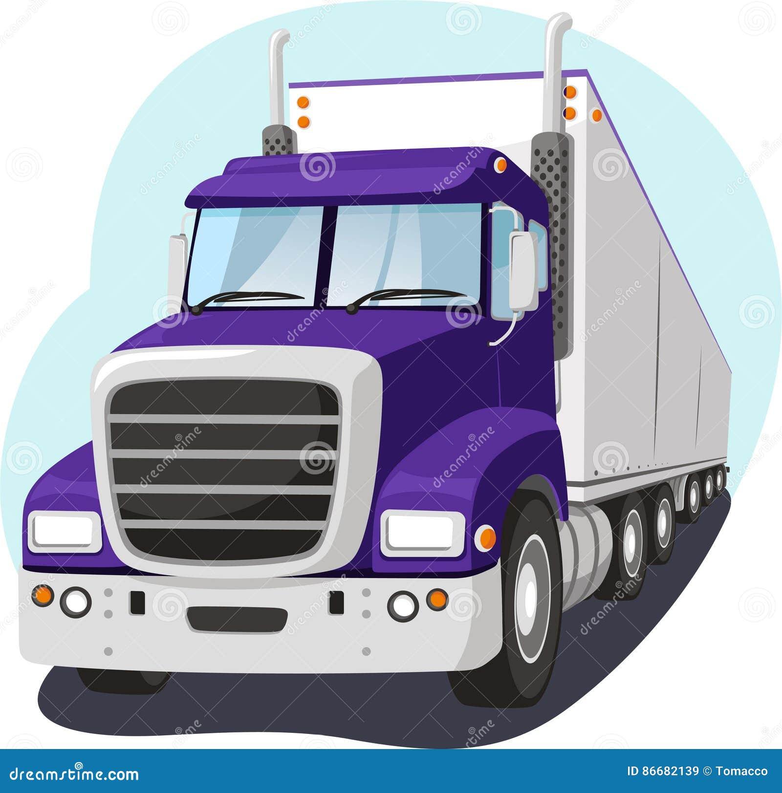 Cargo Truck Cartoon Illustration Stock Illustration ...