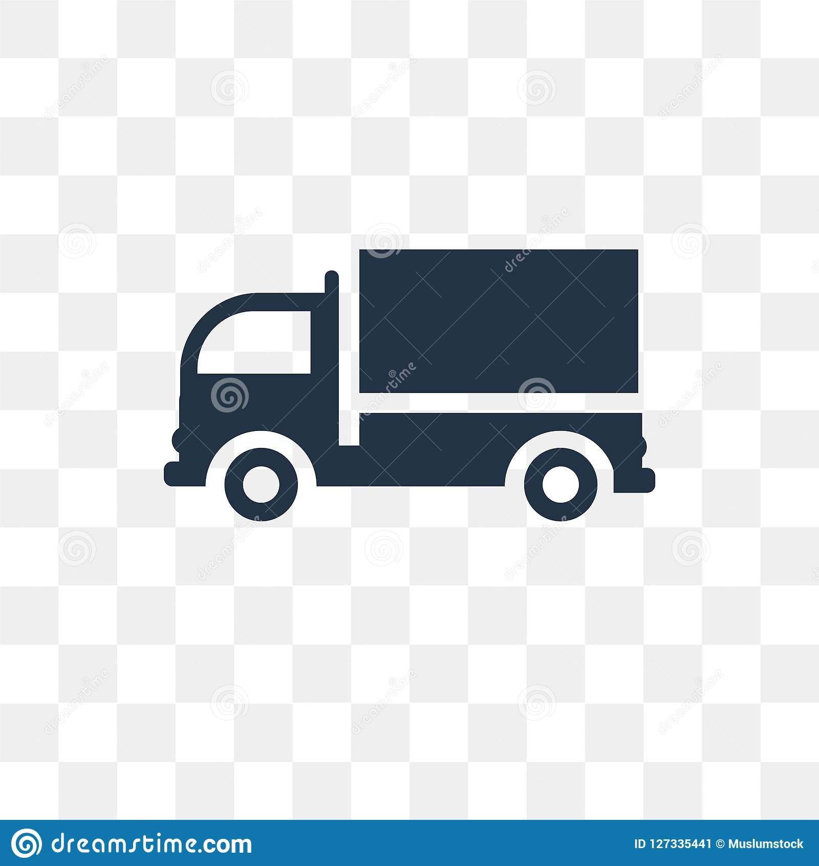 Cargo Truck Facing Left Vector Icon Isolated On ...
