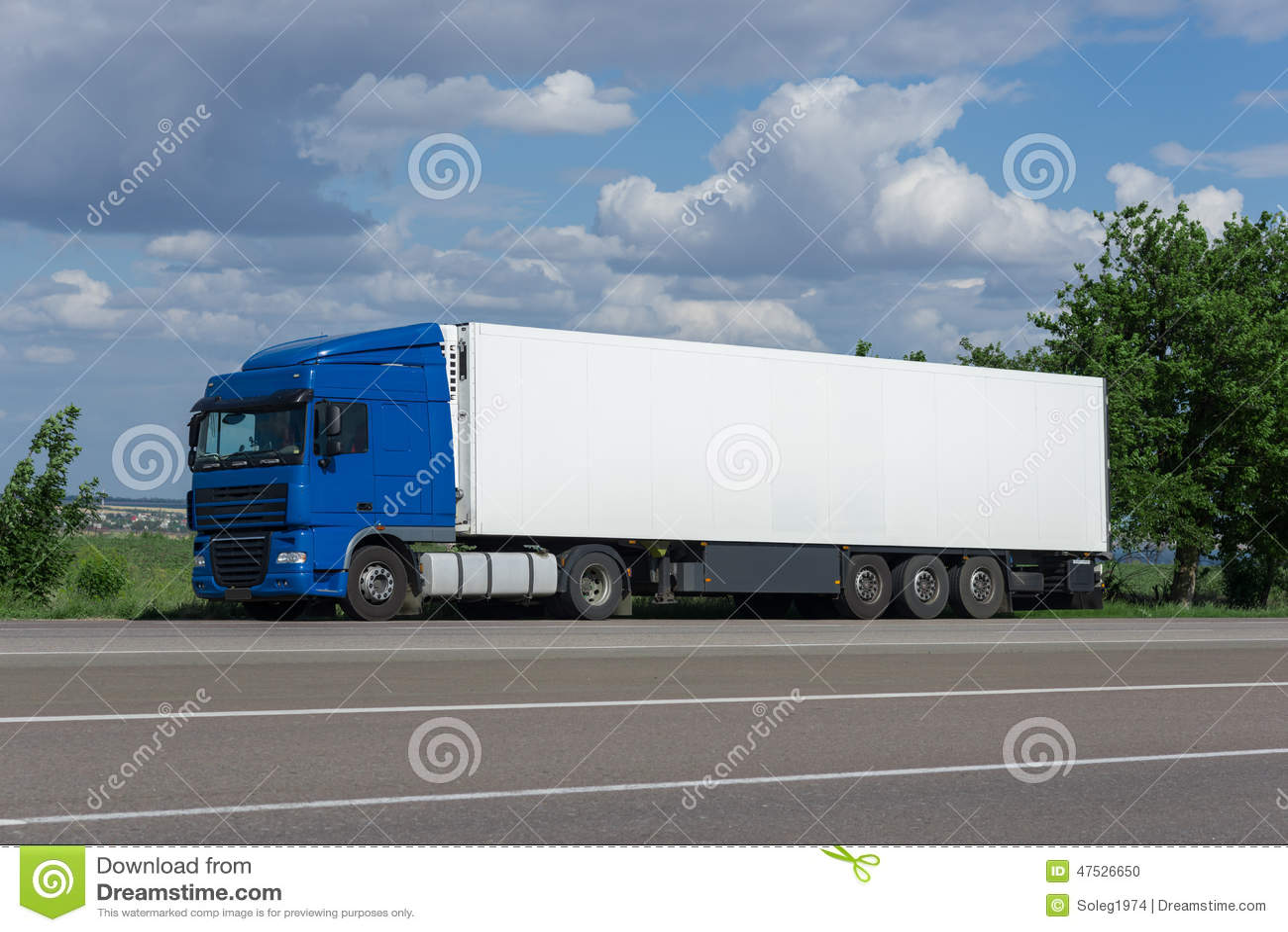 Cargo Truck On Road Stock Photo - Image: 47526650