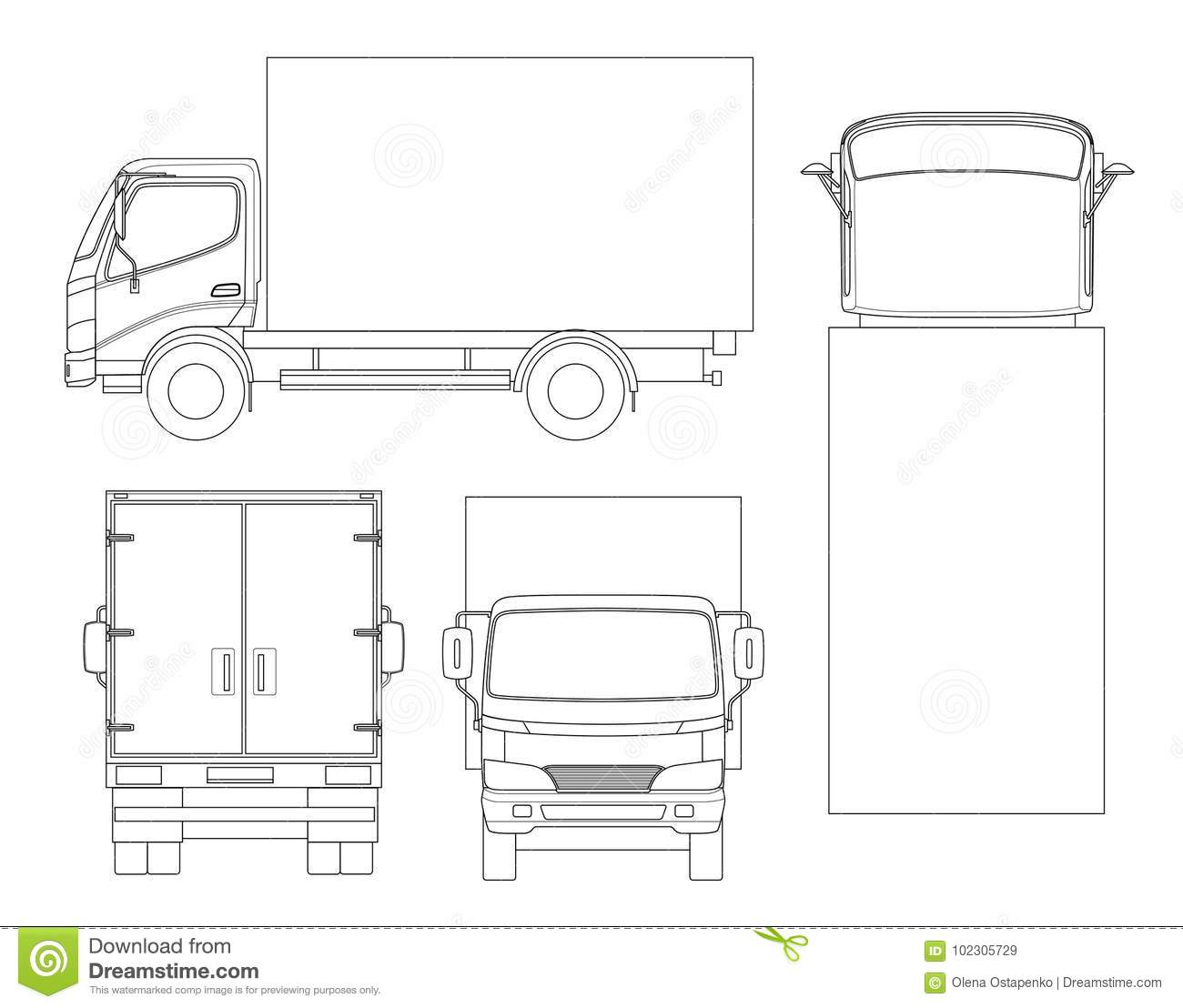 cargo truck transportation outline fast delivery logistic transport easy color change template vector isolated cargo truck 102305729 cargo truck transportation on outline fast delivery or logistic