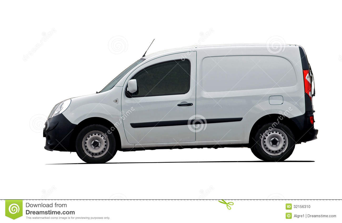 Cargo Van Car Side View Stock Photo - Image: 32156310