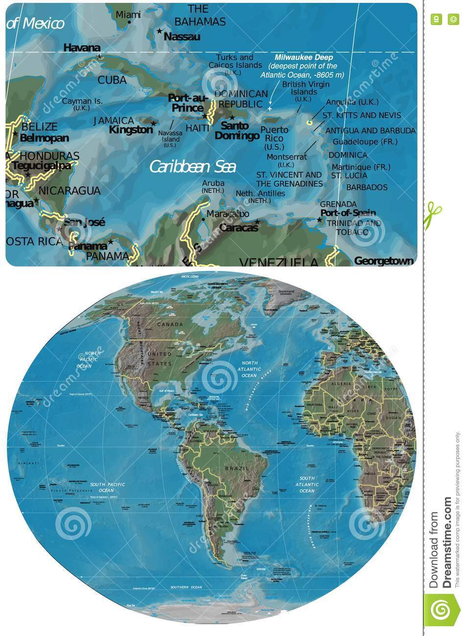The Caribbean And The Americas Map Stock Illustration ... on greece map, caribbean island cruise, caribbean island names, jamaica map, tanzania map, bahrain map, virgin islands map, south america map, puerto rico map, dominican republic map, central america map, belgium map, panama map, netherlands map, georgia map, san juan islands map, iraq map, brazil map, japan map, italy map,