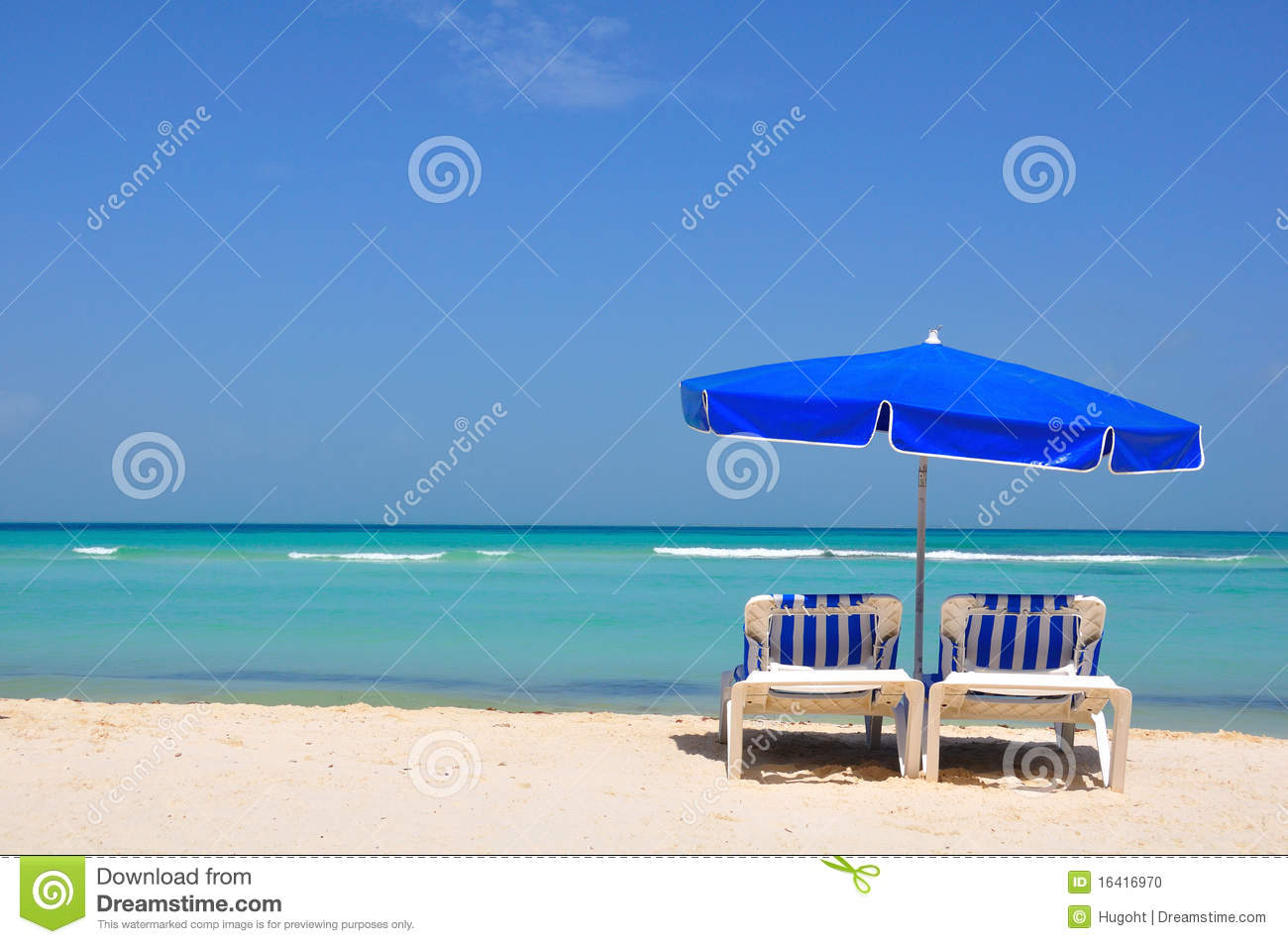 Download Caribbean Beach Chairs, Mexico Stock Photo - Image of exotic, boat: 16416970