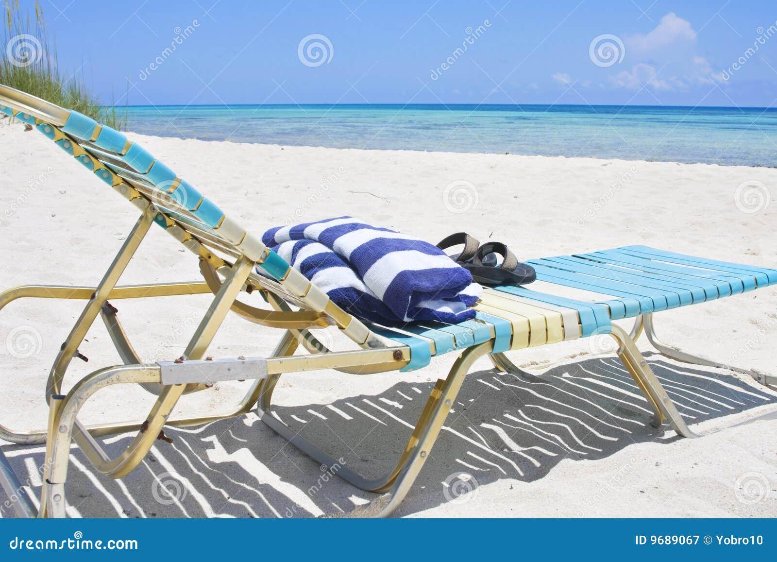 Beach lounge chair - Royalty Free Stock Photo