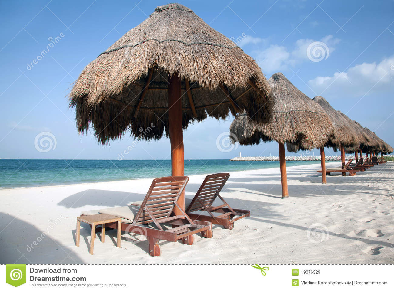 Caribbean Beach Scene Royalty Free Stock Images Image