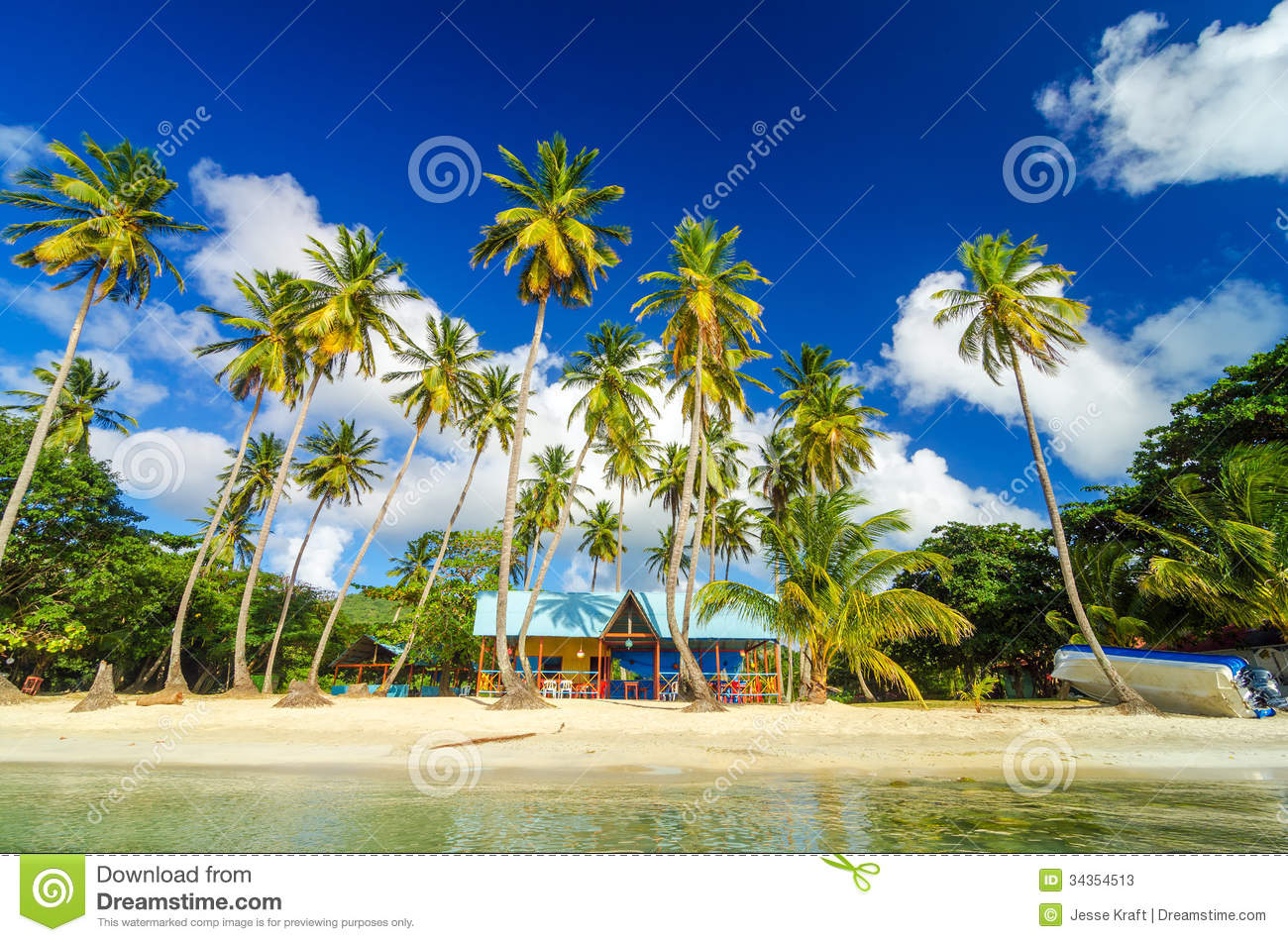 Caribbean Beach Shack stock image. Image of color, beautiful - 34354513