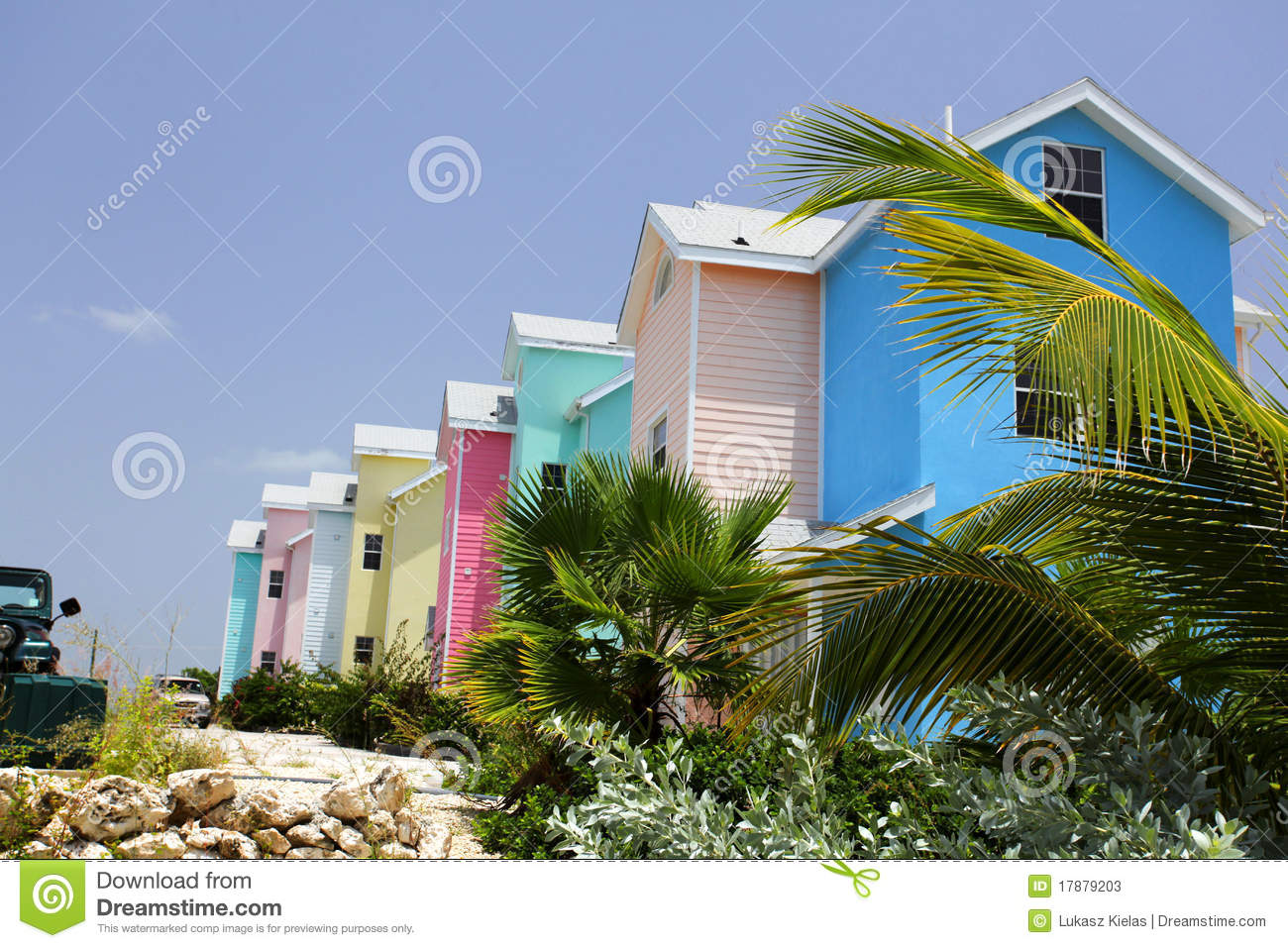 Caribbean colorfull houses