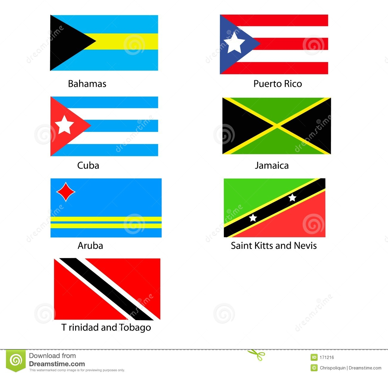 Caribbean Flags Royalty Free Stock Image Image 171216
