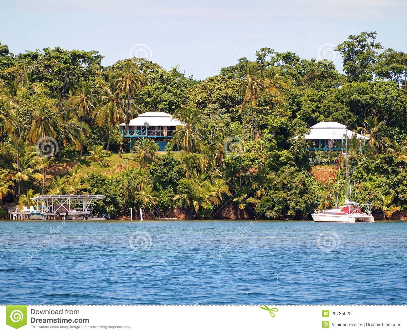 Caribbean houses in panama stock photo image of home for Country house com