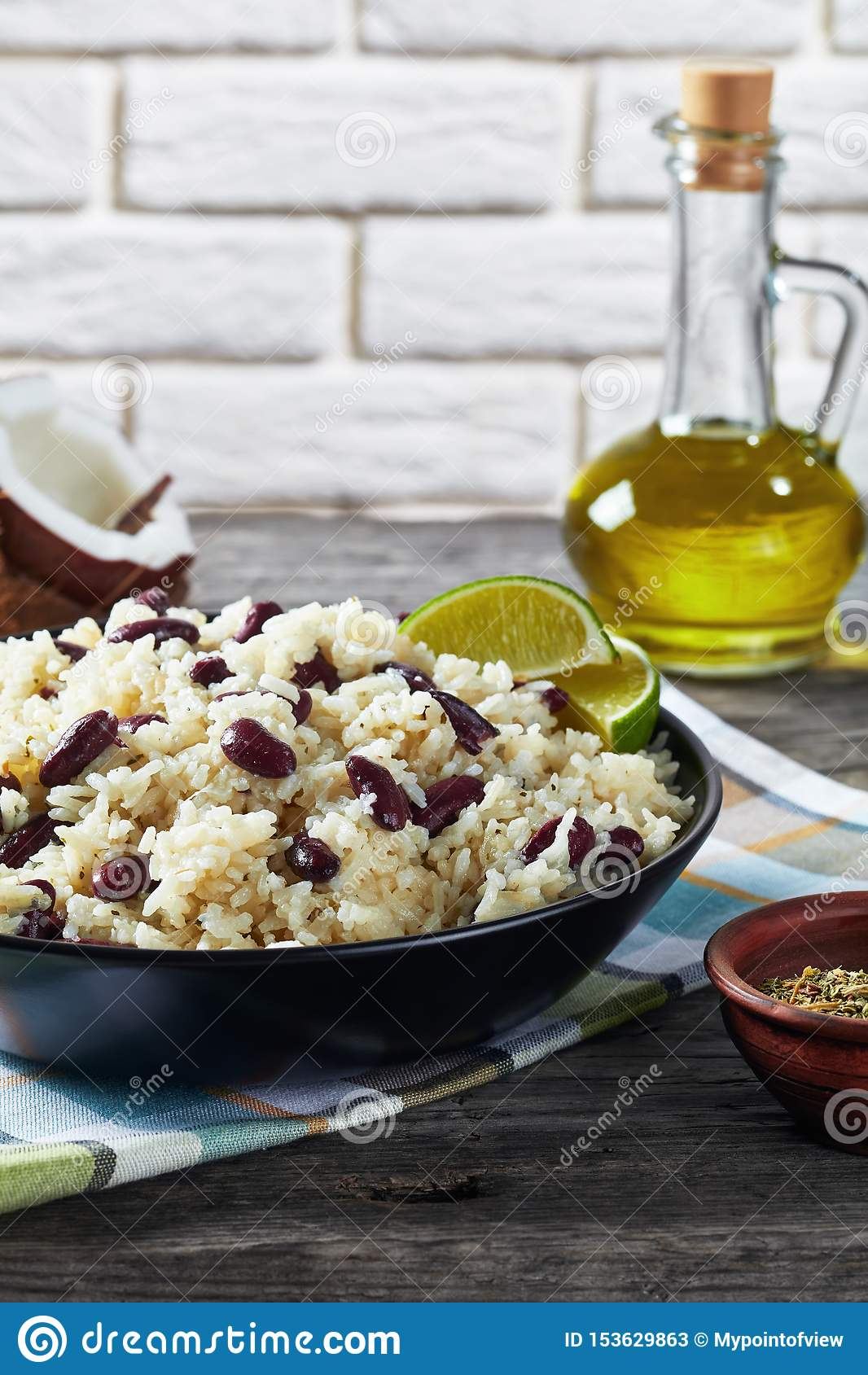 Caribbean Rice and Red Beans in a bowl