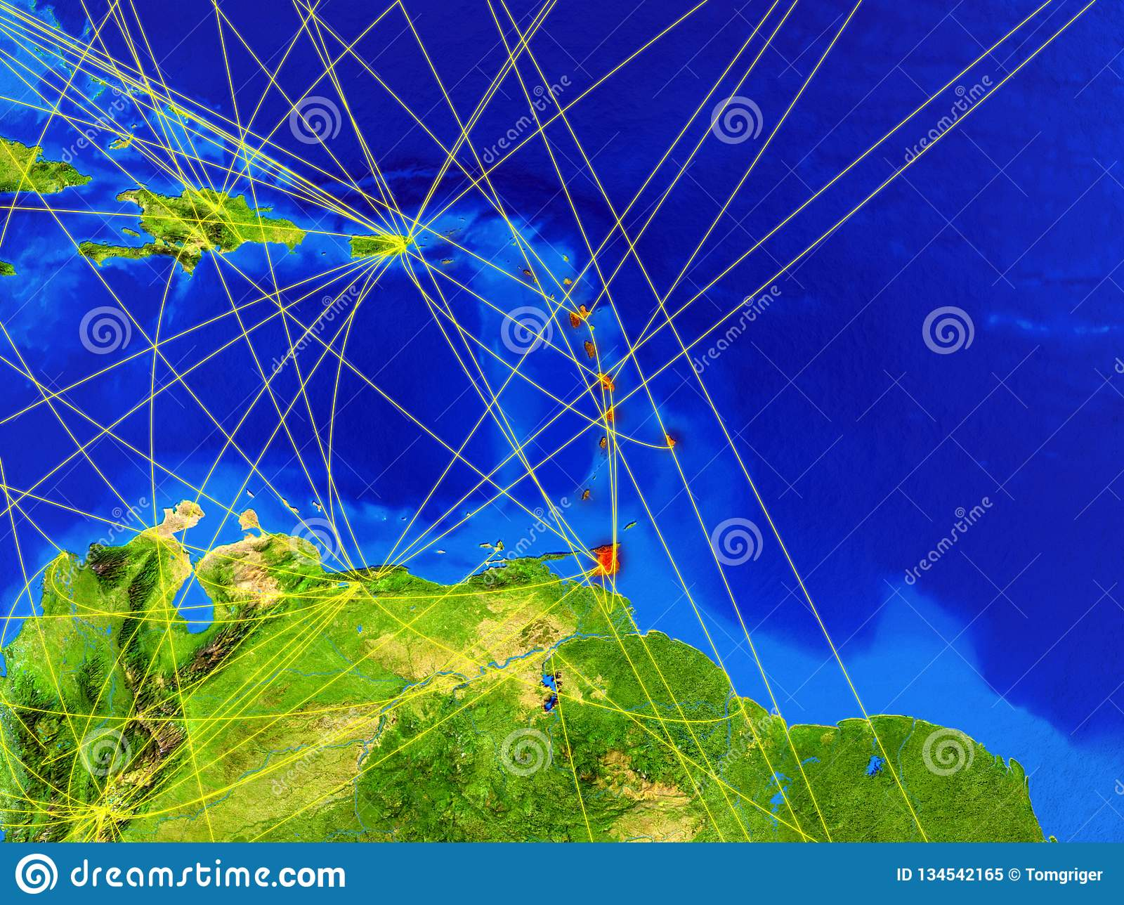 Caribbean on Earth with network