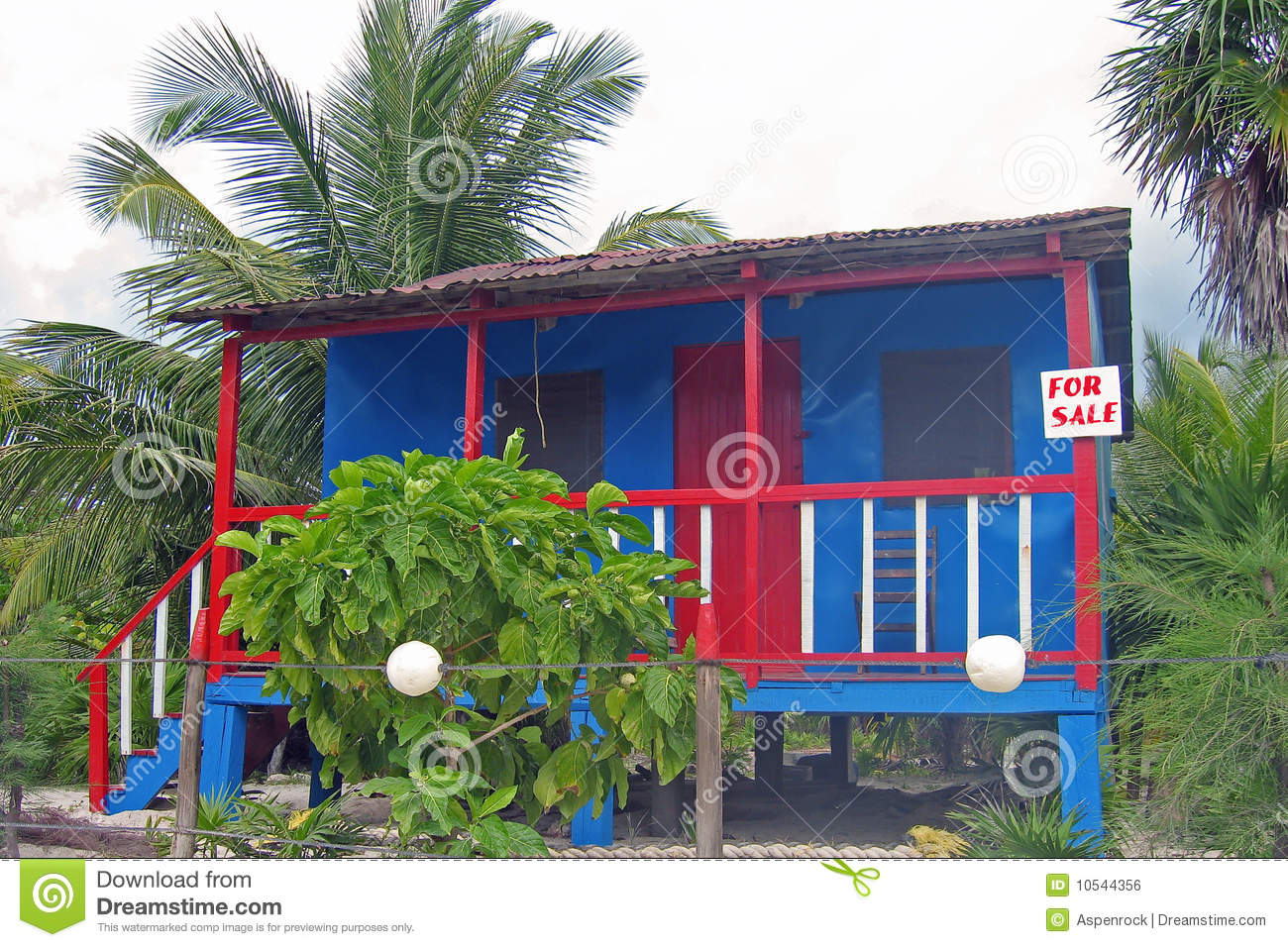 Royalty Free Stock Image Caribbean Style Shack Sale Image10544356 on Beach House On Stilts Plans