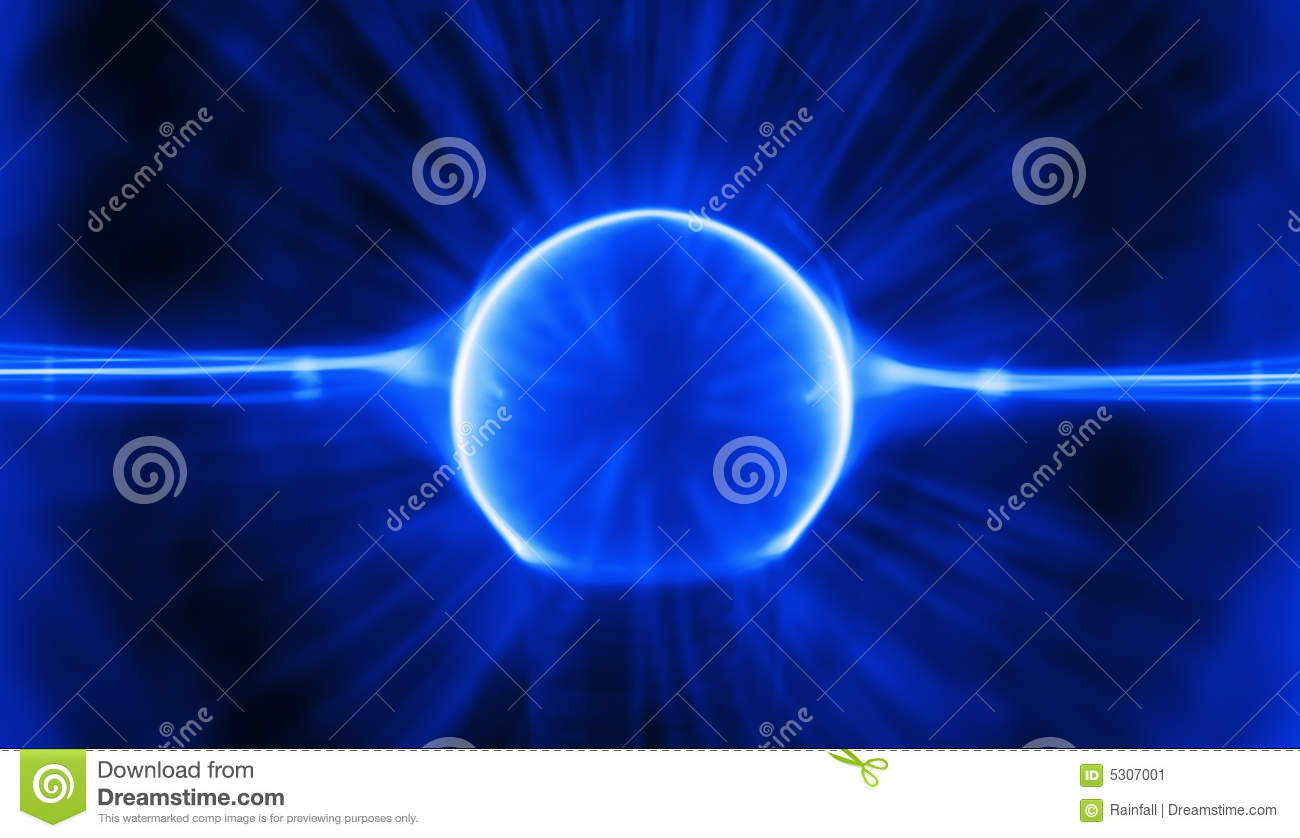 Download Carica blu del plasma immagine stock. Immagine di glowing - 5307001