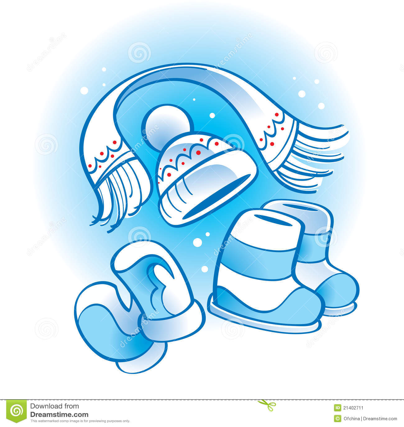 Caricamenti del sistema stabiliti della sciarpa del - Animali in inverno clipart ...