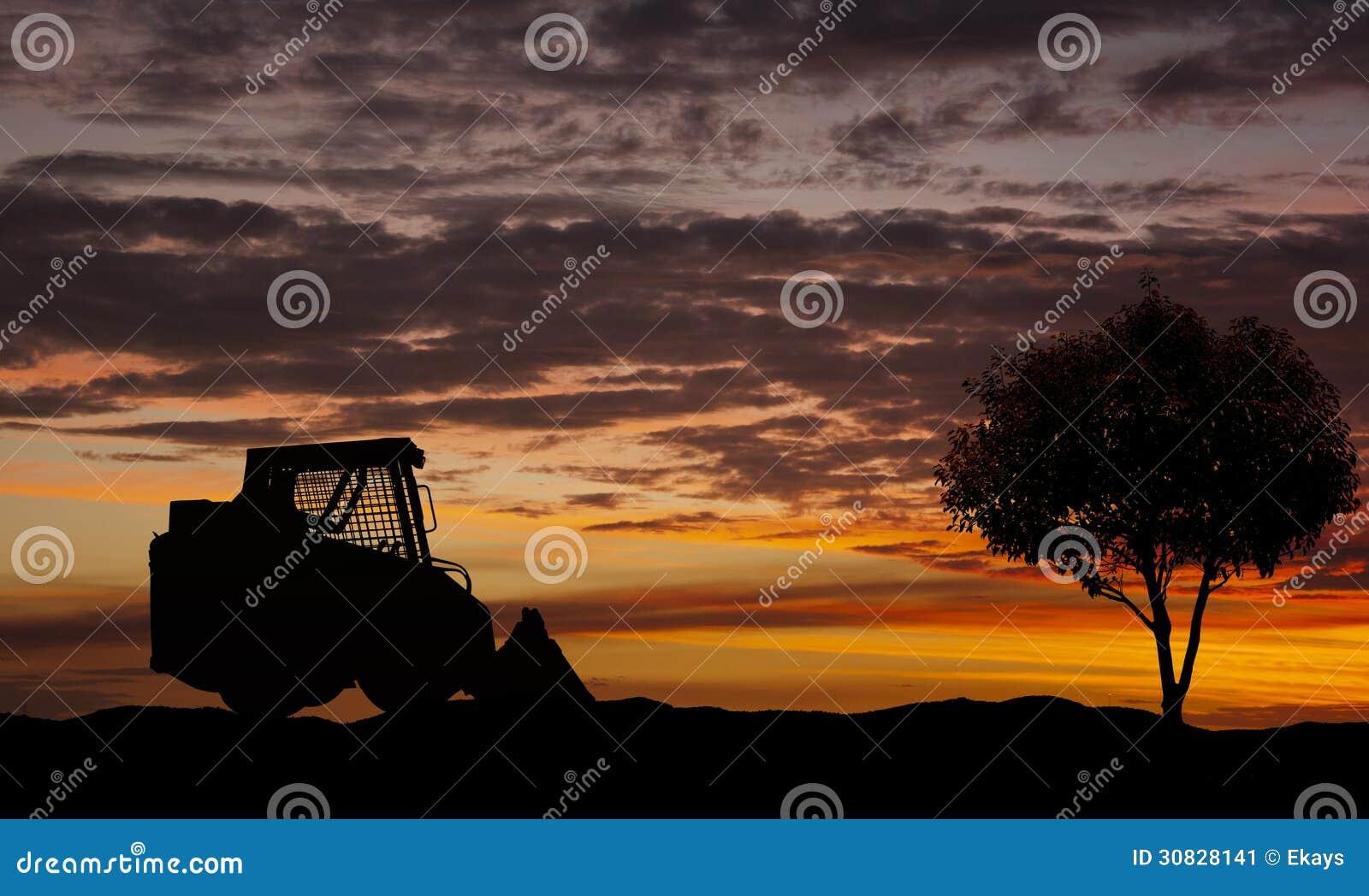 Caricatore di scivolo e un singolo albero