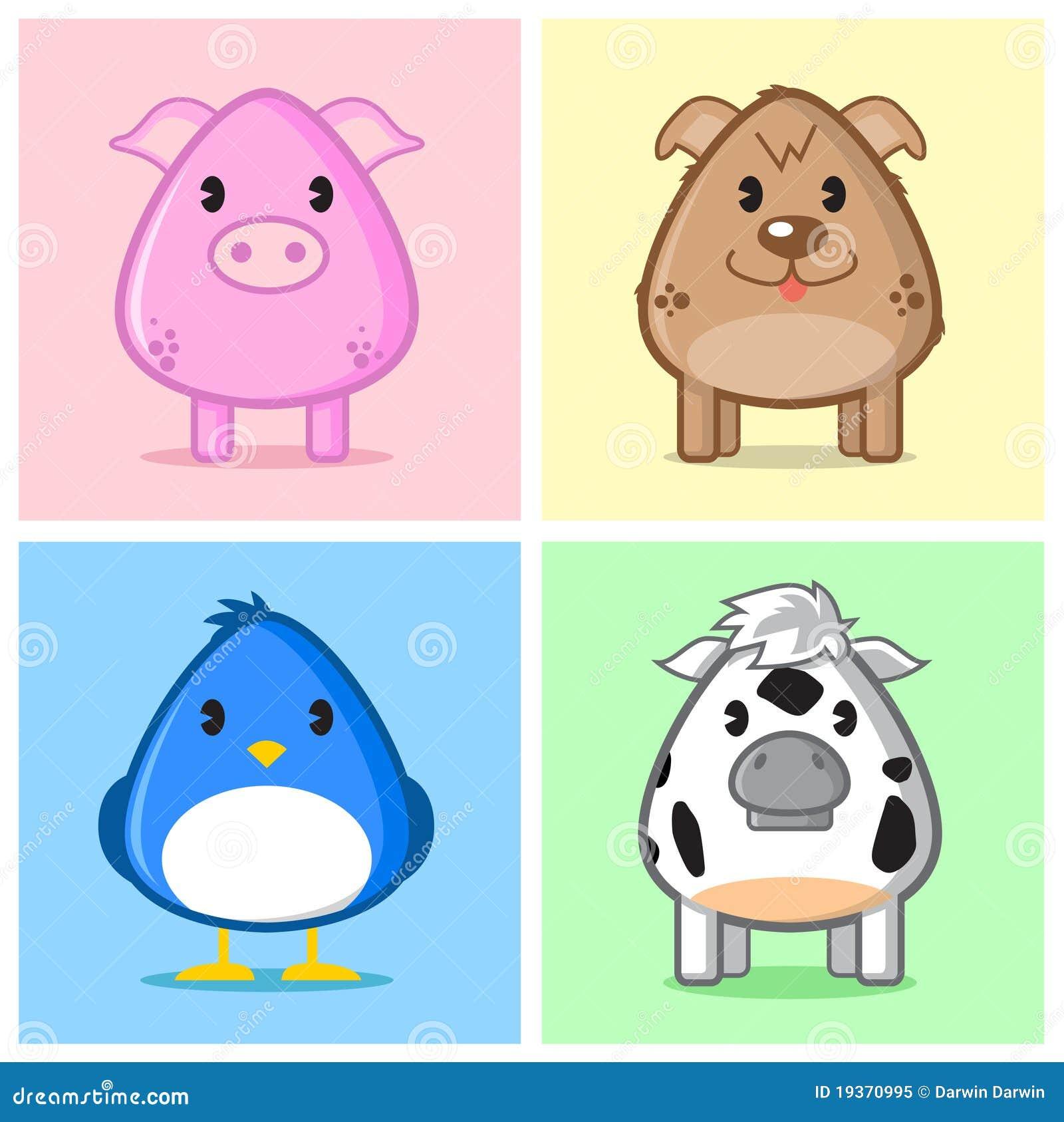 Caricatura animal bonito