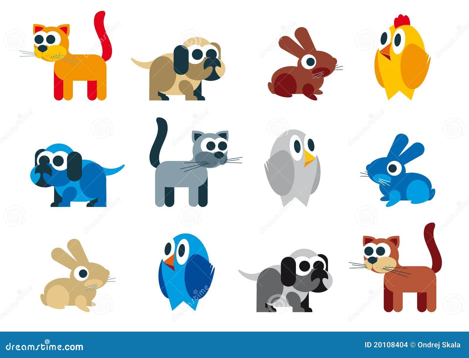 Caricatura ingénua da quadriculação dos animais
