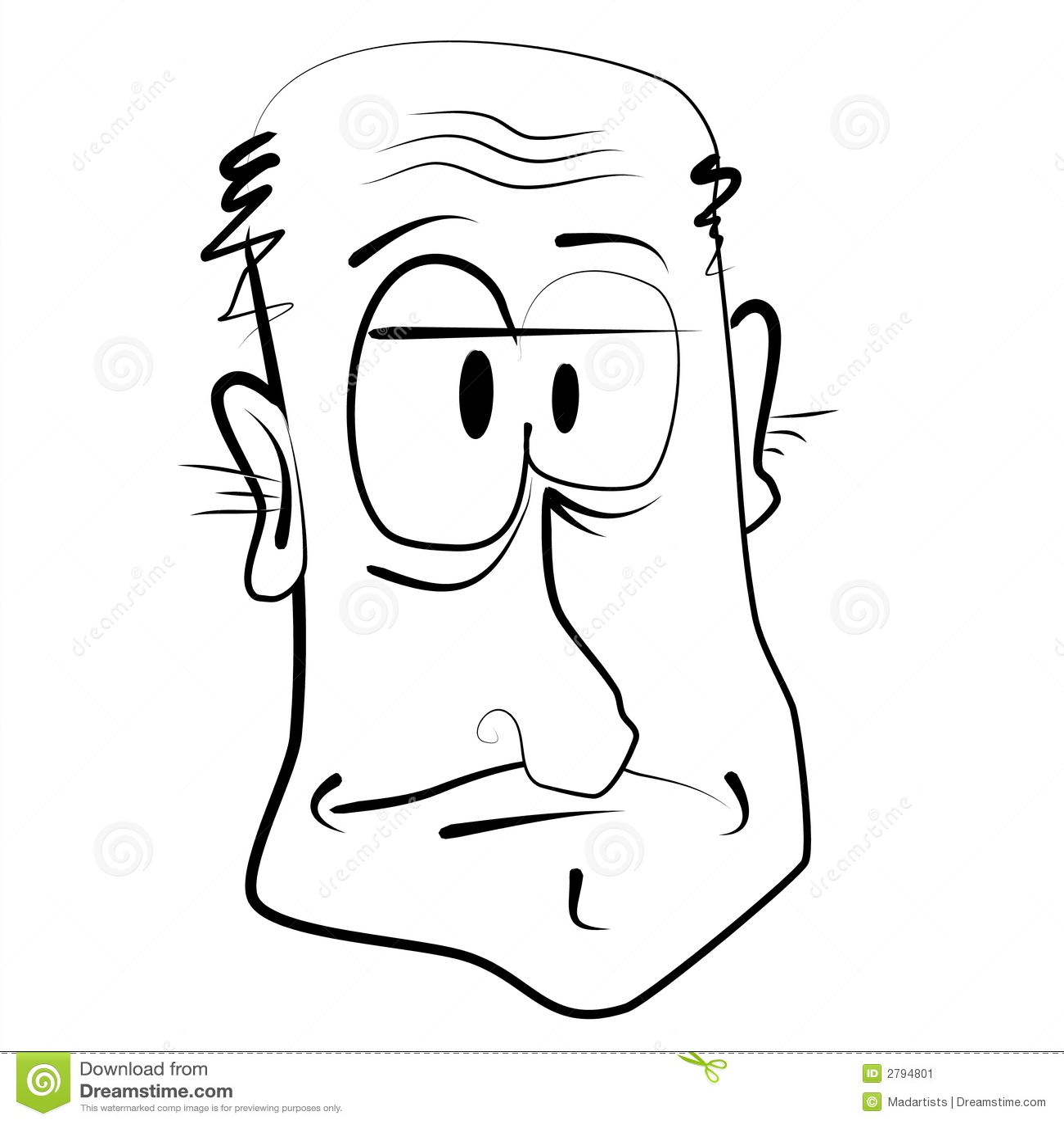 Populaire Caricature De Dessin Animé De Vieil Homme Illustration Stock  VZ46