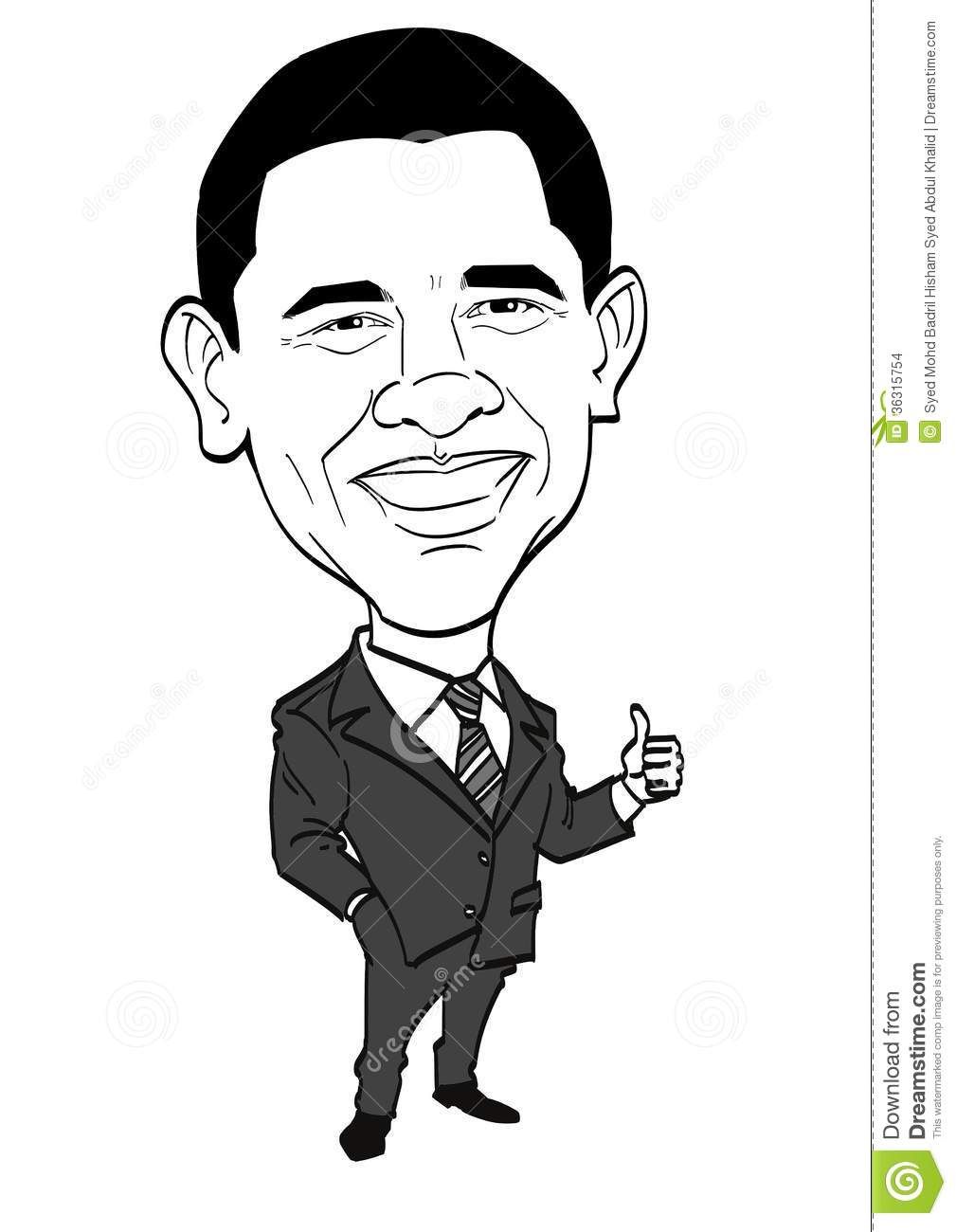Caricature Series - Barack Obama Editorial Stock Image ...