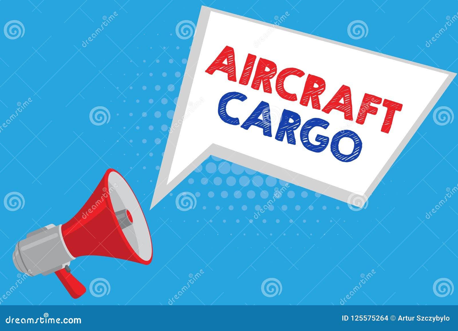 Carico degli aerei del testo della scrittura Merci di trasporto di posta aerea del trasportatore di trasporto di significato di c