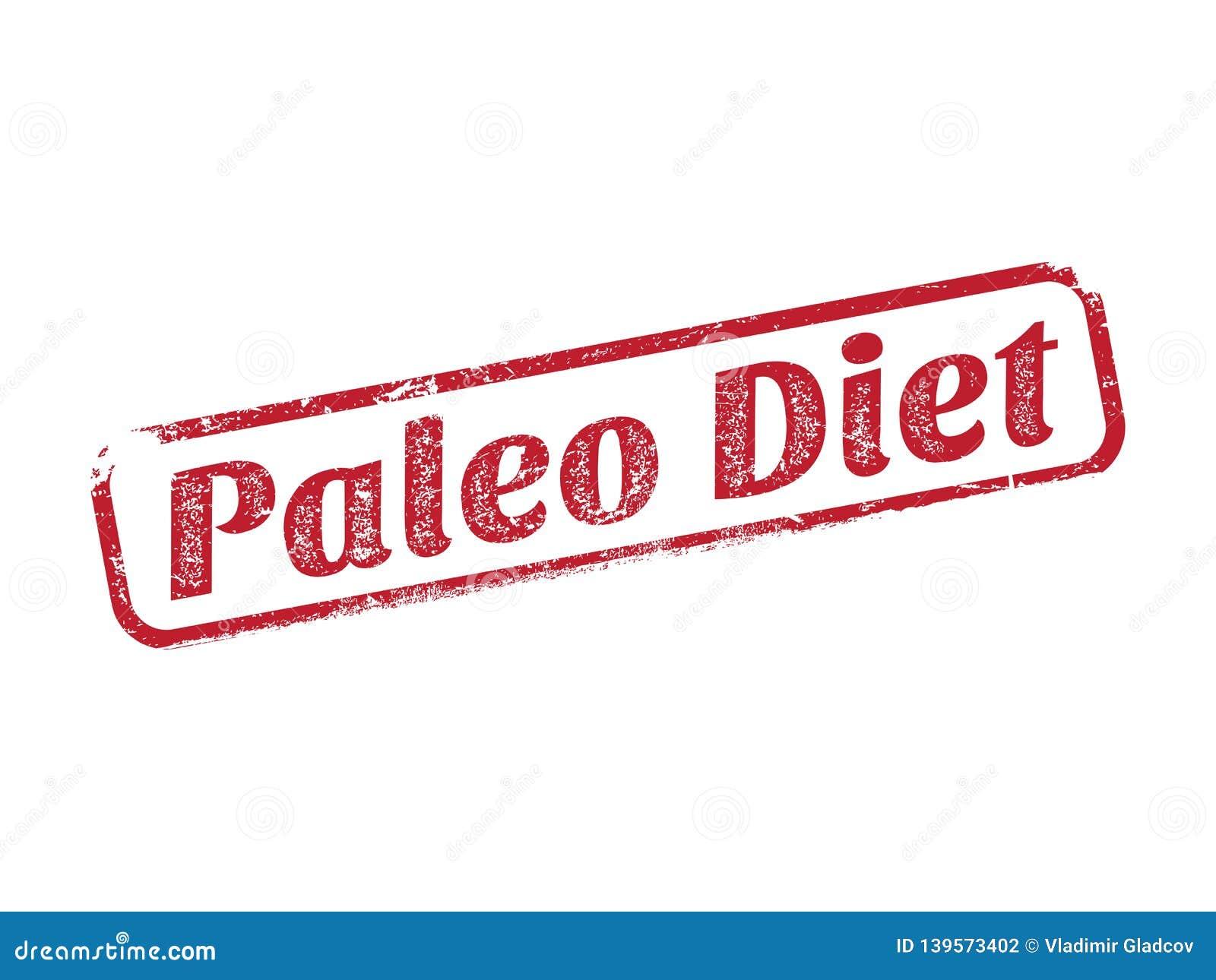 Carimbo de borracha da dieta de Paleo