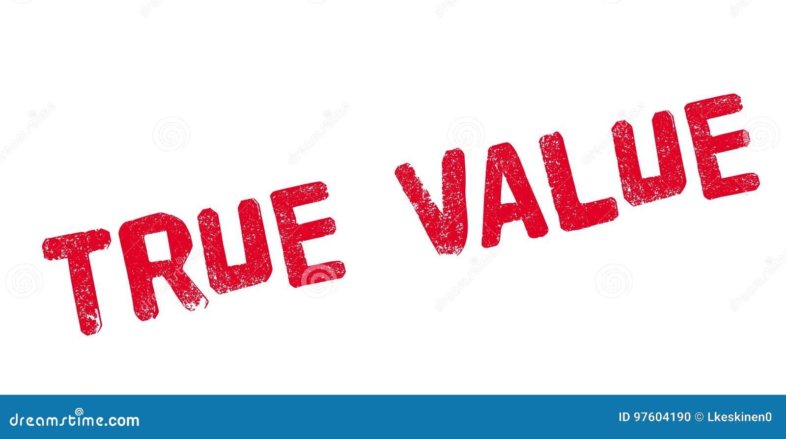 Carimbo de borracha do valor verdadeiro