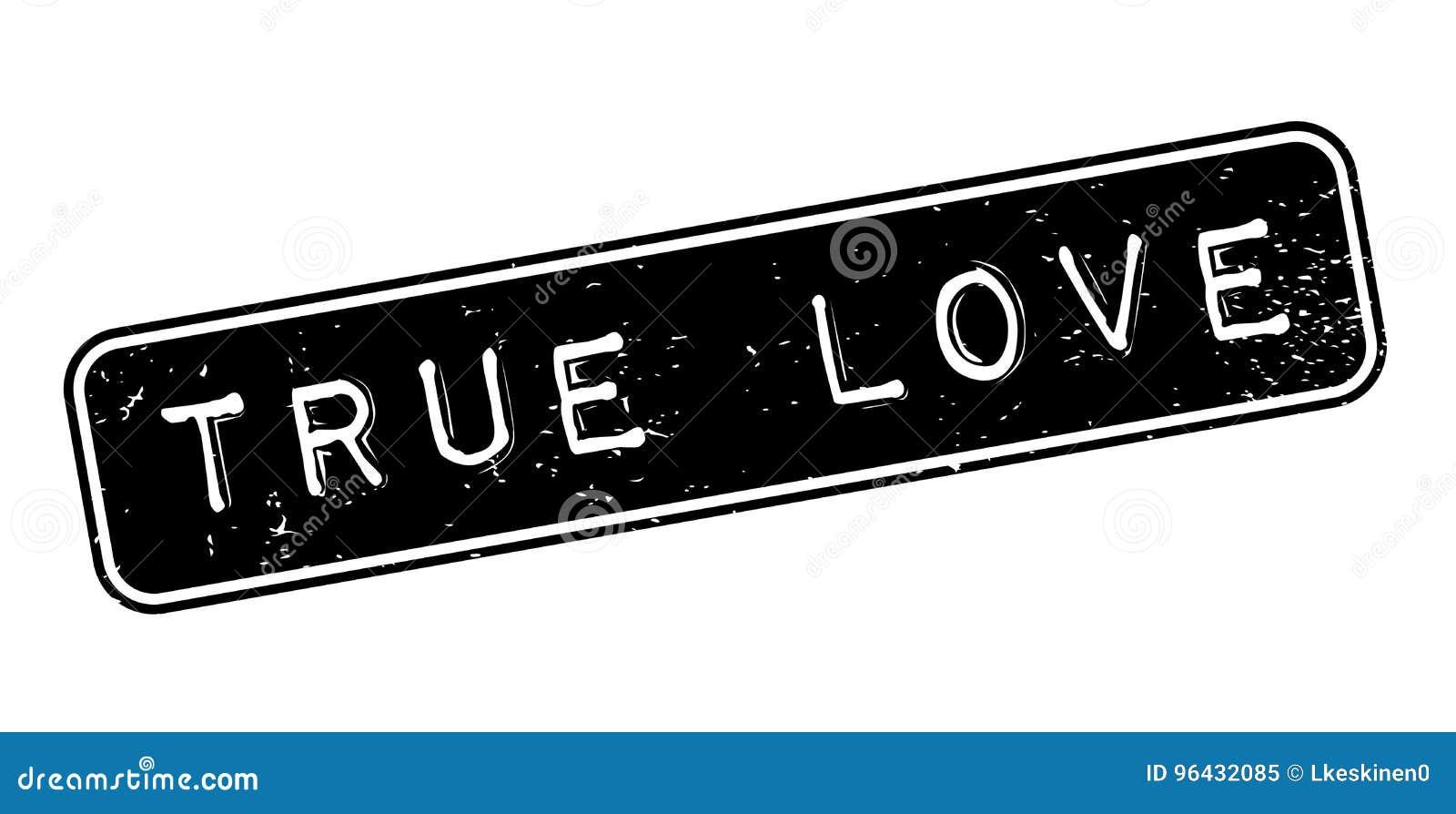 Carimbo de borracha verdadeiro do amor
