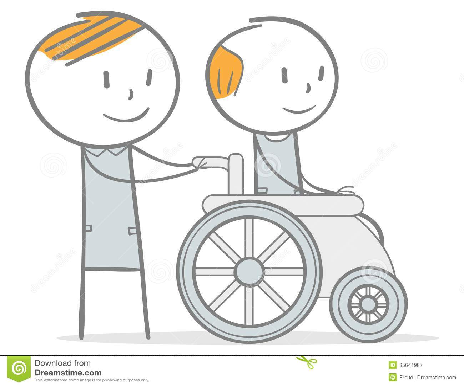 caring stock vector image of physical drawing cartoon