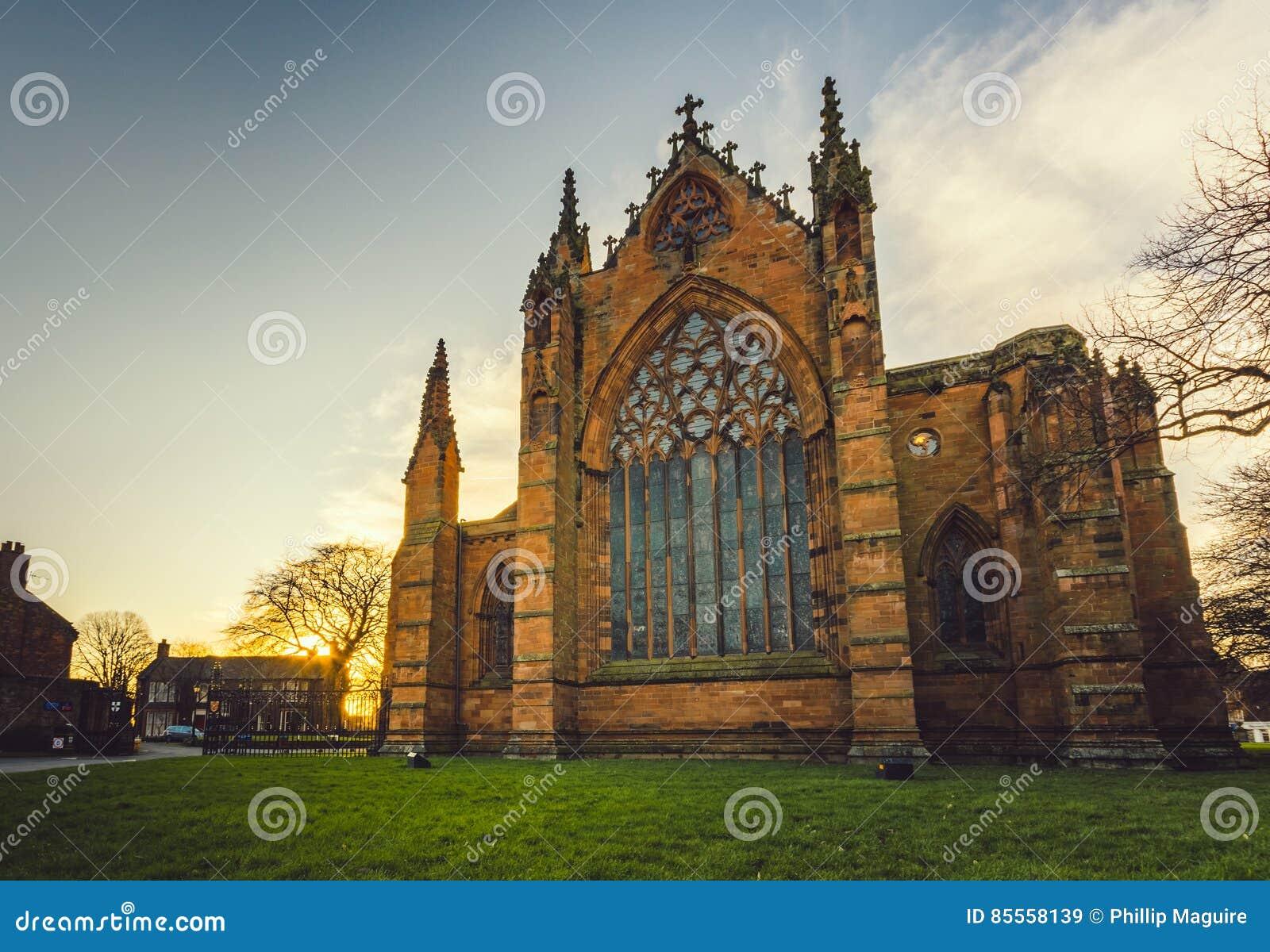 Carlisle Cathedral an der Dämmerung