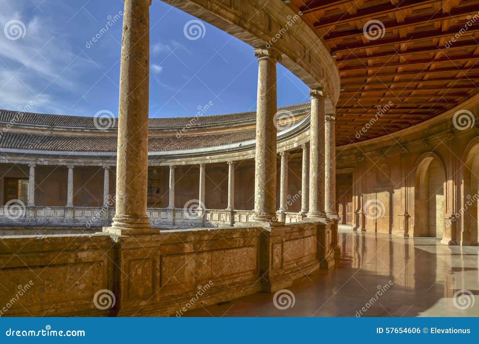 Carlo V pałac, Alhambra, Hiszpania