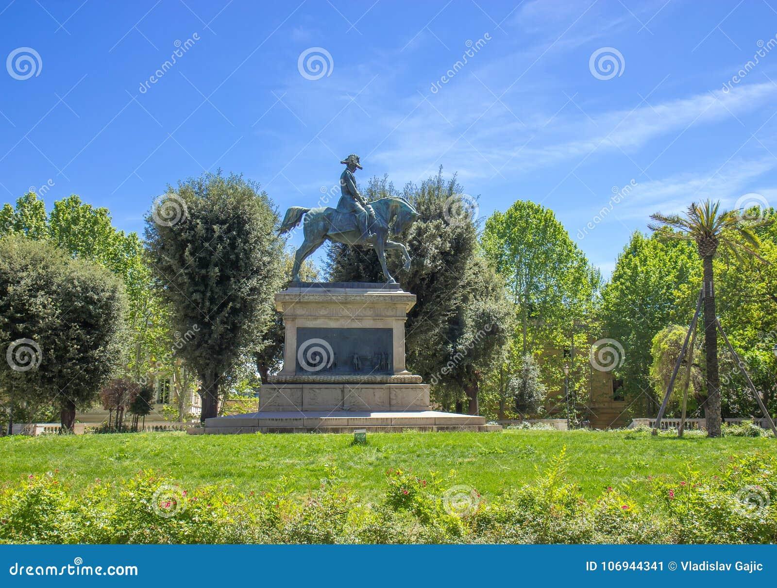 Carlos Alberto Equestrian Statue nei giardini di Quirinal a Roma