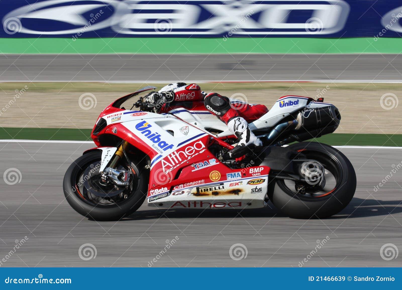 Carlos Checa - Ducati 1098R - corsa di Althea